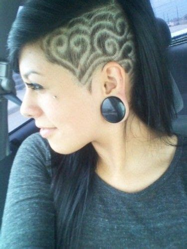 17 best images about shaved sides are my fav on pinterest shaved hair designs for girls 17 side undercut hairstyle