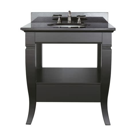 Bathroom Vanity With Shelf 30 Inch Single Sink Bathroom Vanity With Open Shelf Uvacmilanov30bk