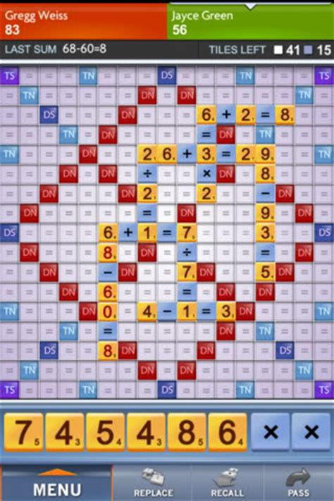 problem with scrabble app go sum like scrabble if it were numbers cool tech