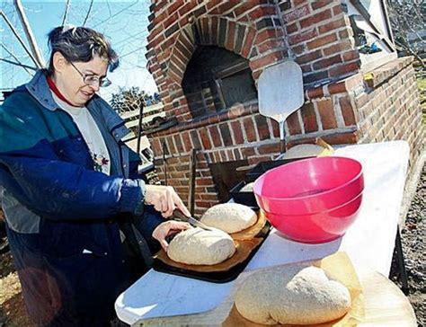 backyard bread oven minn couple builds backyard brick bread oven minnesota