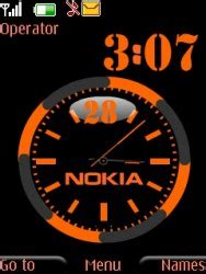clock themes for mobile phones download free nokia dual clock s40 mobile phone theme