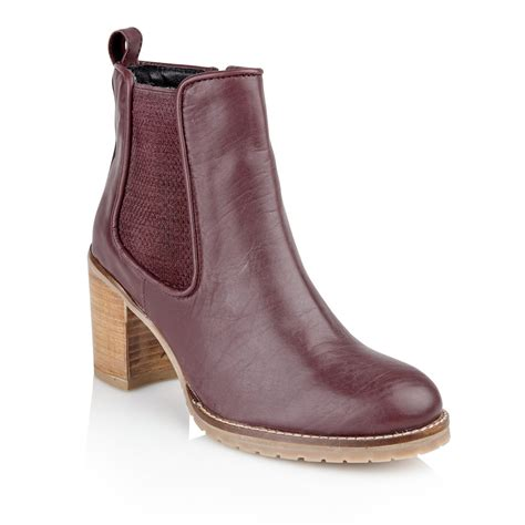burgundy leather boots buy ravel newark ankle boots in burgundy