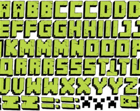 free printable minecraft alphabet letters 11 minecraft font alphabet images minecraft alphabet
