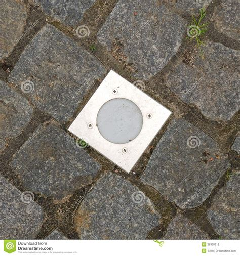 in ground recessed lighting outdoor recessed ground lighting stock photography image
