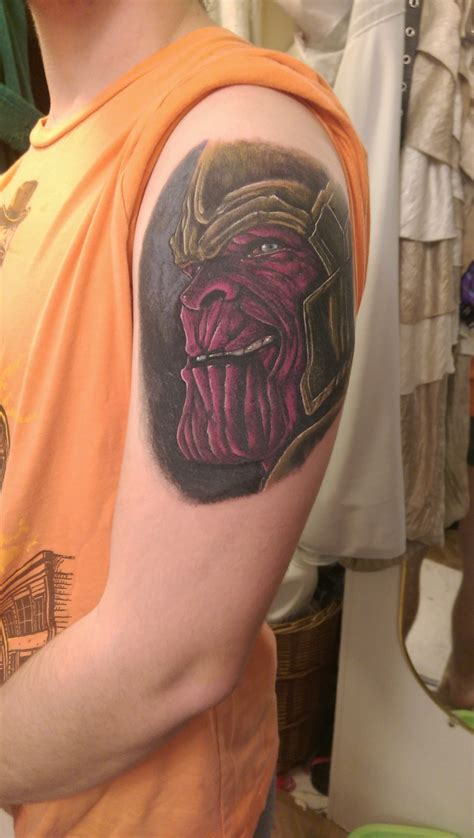 rare breed tattoo thanos the mad titan done by jake edwards at breed