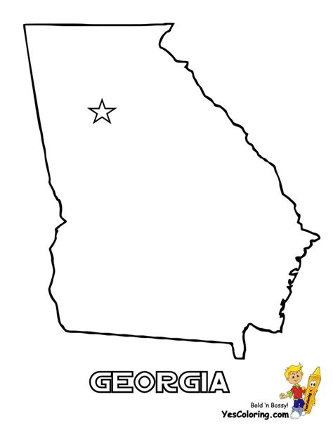 printable map georgia 18 best images about free usa states maps coloring pages