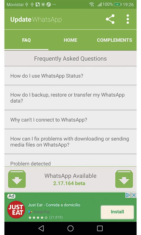 whatsapp free for android mobile phone updater for whatsapp faq free app android freeware