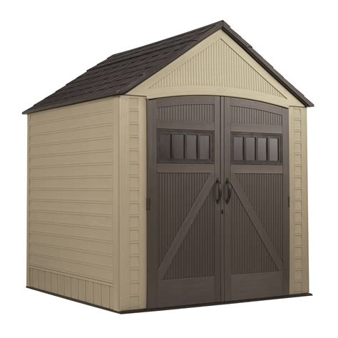 Lowes Vinyl Storage Sheds by Shop Rubbermaid Roughneck Gable Storage Shed Common 7 Ft