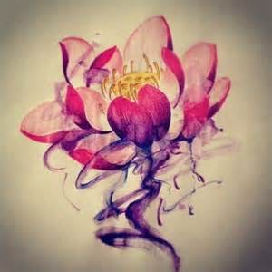 Colour Lotus Lotus Flower Watercolor Tattoobite