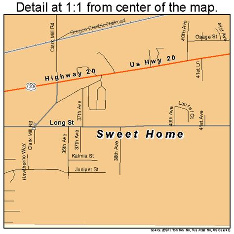 sweet home oregon map 4171950