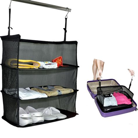 fashion three pocket mesh multifunction travel storage bag