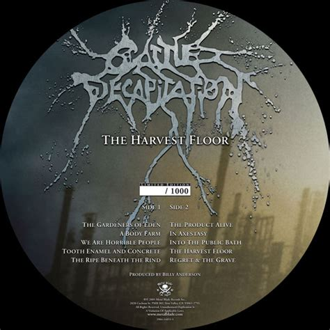Cattle Decapitation The Harvest Floor by Cattle Decapitation Quot The Harvest Floor Picture Disc Quot 12