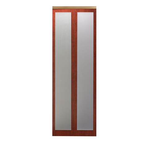 42 Bi Fold Closet Door Impact Plus 42 In X 80 In Mir Mel Cherry Mirror Solid Mdf Interior Closet Bi Fold Door