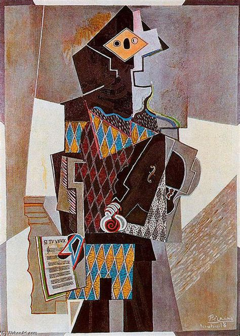 pablo picasso paintings violin harlequin with violin by pablo picasso 1881 1973 spain