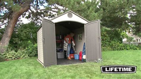 6x10 Storage Shed Lifetime 8 X 10 Foot Outdoor Storage Shed Model 60018