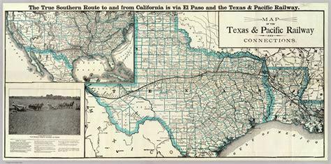 texas railway map texas and pacific railway the handbook of texas texas state historical association tsha