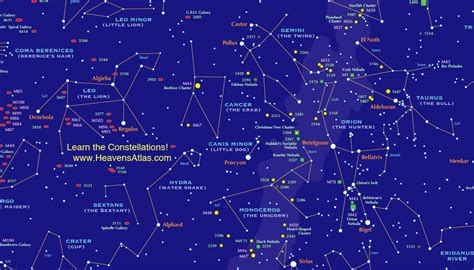 constellations map sky chart gallery