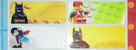 nama film kartun anak jual stiker label nama anak waterproof lego movie m 33