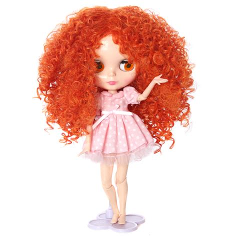 babydoll hair extensions baby doll hair orange afro curly doll hair wig in