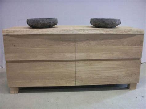 natuursteen badkamermeubel badkamermeubel eikenhout 2 natuurstenen waskommen te