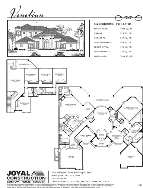 venetian floor plan floor plans joyal construction