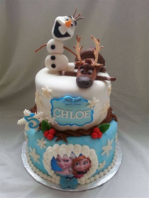 themed birthday cakes soweto frozen cake with handmade sven and olaf tortas pinterest