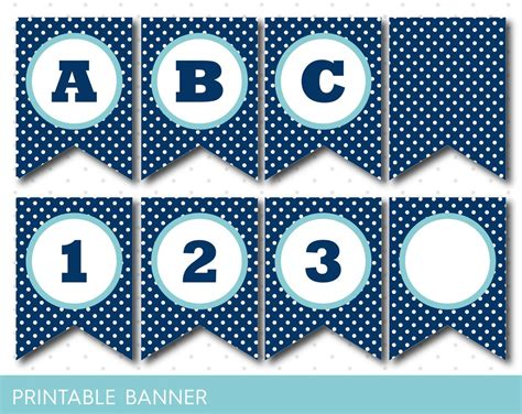 3d circle printable banner letters a z 0 9 create a personalized