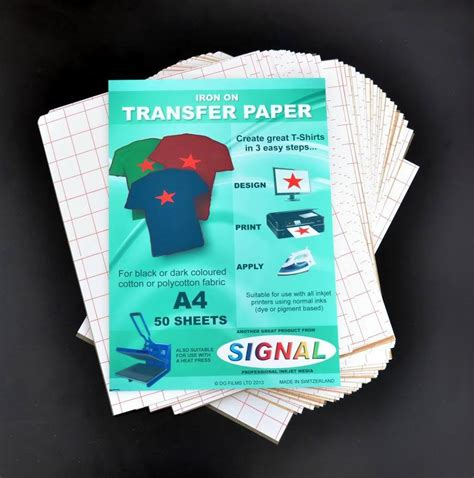 How To Make Fabric Transfer Paper - iron on t shirt transfer paper for fabrics x 50 a4 ebay