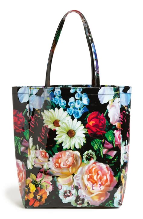 Ted Baker Canvas Printed Tote Bag by Lyst Ted Baker Painting Tote In Black
