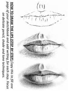 how to draw lips step by step worksheet drawing pinterest
