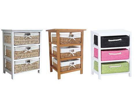3 Basket Drawer Bathroom Storage Unit Cabinet Maize Storage Unit 2 3 4 Wood Organiser Basket Drawers