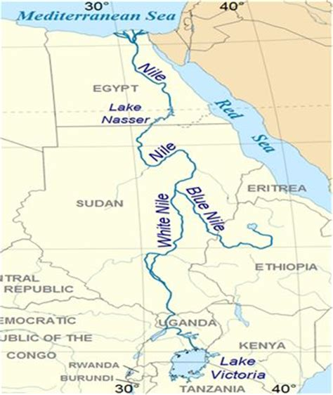 nile river on a africa map list of top 10 rivers in africa fortune of africa