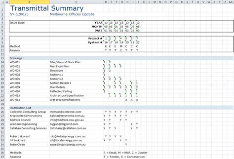 Transmittal Format In Excel Transmittal Ms Excel 174 Template