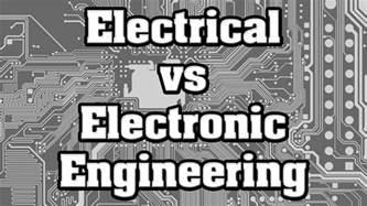 electrical engineering  electronic engineering degree