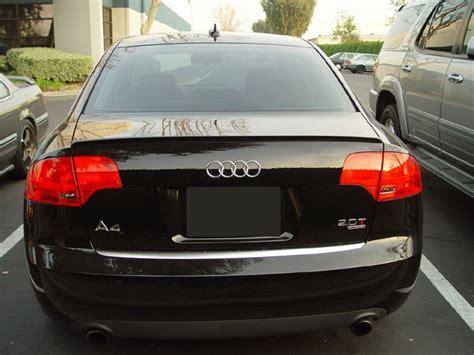 Bumper Sam S4 Silver audi a4 s4 rs4 b7 8e rear boot trunk spoiler lip wing sport trim lid s line m3 ebay