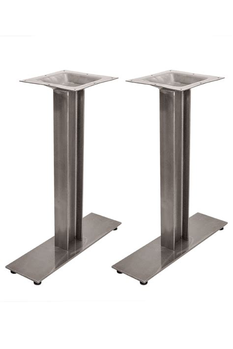 6 quot x 22 quot commercial table height i beam table base bar