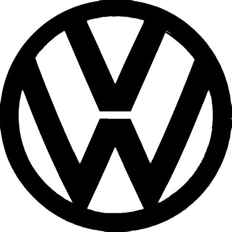 volkswagen logo black and white vw logo 6 creative signwork