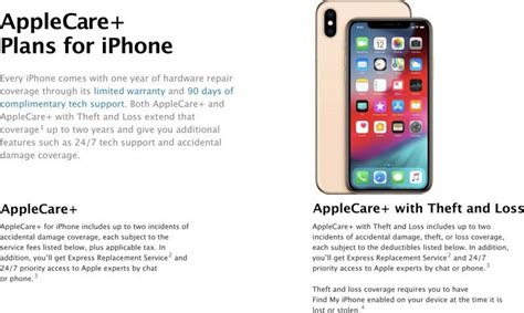 apple debuts new applecare theft and loss plan priced at 299 for iphone xs and xs max macrumors