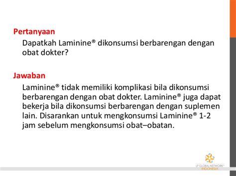 Obat Laminine presentasi produk laminine