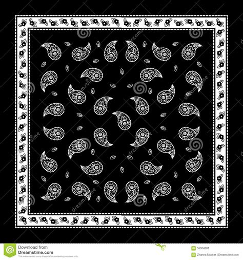 bandana pattern font 16 simple paisley vector images free vector paisley