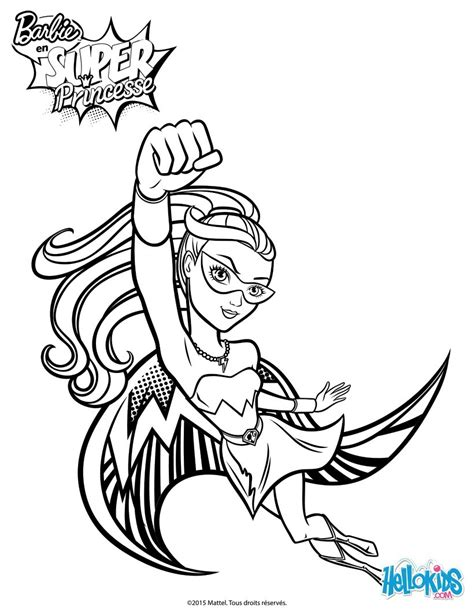 barbie superhero coloring pages barbie super mit pailletten zum ausmalen de hellokids com