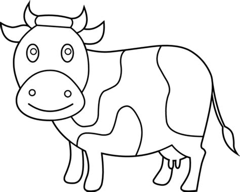simple cow coloring page cute cow coloring page free clip art