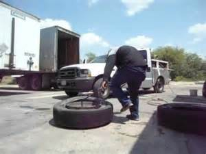 Putting Car Tires On A Trailer How To Un Mount Mount A Truck Tire