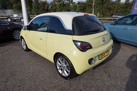 vauxhall yellow used yellow vauxhall adam for sale essex