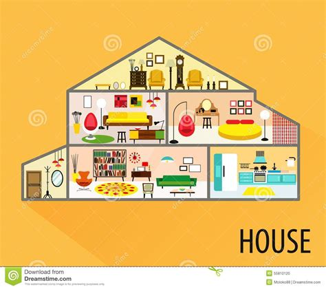 house interior cartoon house cartoon interior stock photo image 55810120
