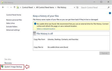 windows image backup how to create a windows 10 system image backup