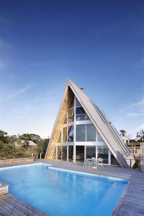 modern a frame house plans beachfront a frame house with wide open interior modern