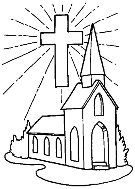 church coloring pages  cross coloringstar