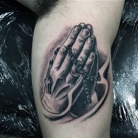 praying hands and rosary beads tattoo design 70 praying designs for silence the mind
