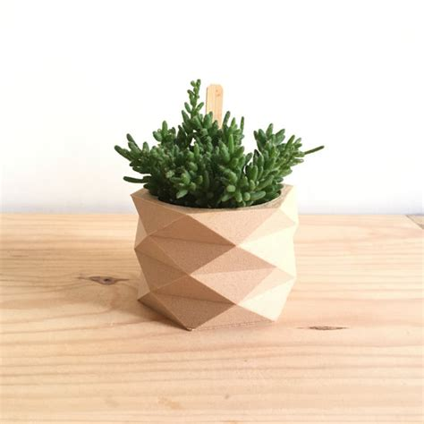two plants in modern wooden pots plant pots pinterest original and modern a 3d wooden pot for your pot plant